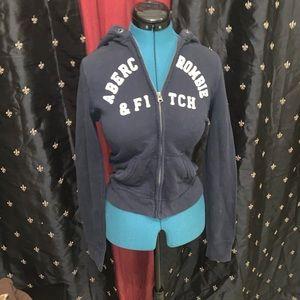 Abercrombie hooded sweatshirt jacket